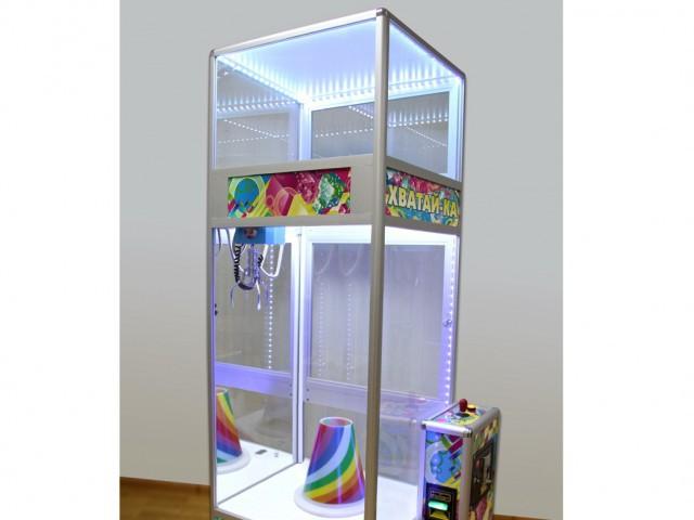 Мягкая игрушка Кран-машина с лузой+куб для призов мал.
