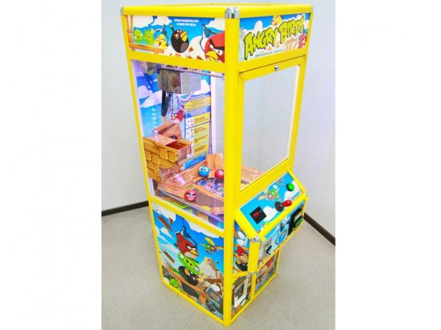 Мягкая игрушка Скворечник злые птички с мячами-прыгунами и капсулами б/у