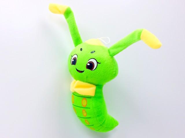 Мягкая игрушка Гусеница веселая