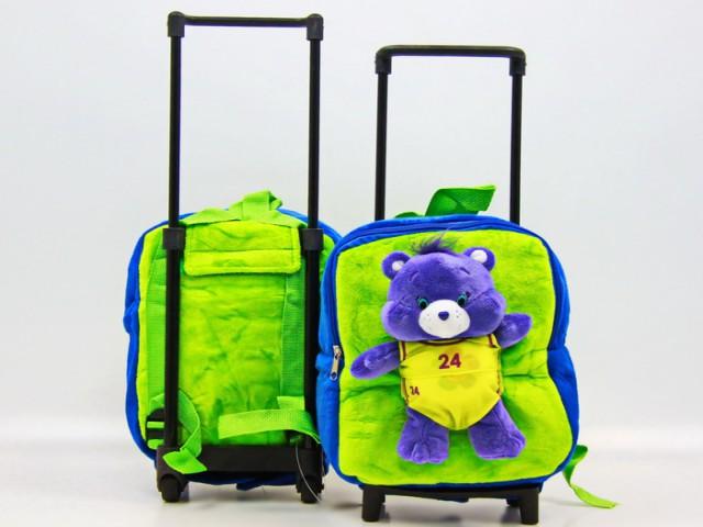Мягкая игрушка Рюкзак с тележкой мишка гармония