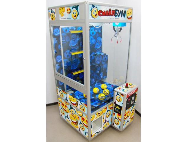 Мягкая игрушка Торгово-развлекательный аппарат смайл-бум с винтами для дорогих призов