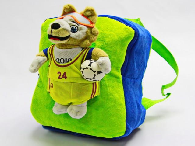 Мягкая игрушка Рюкзак с волком забивакой