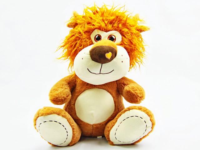 Мягкая игрушка Львенок с сердечком