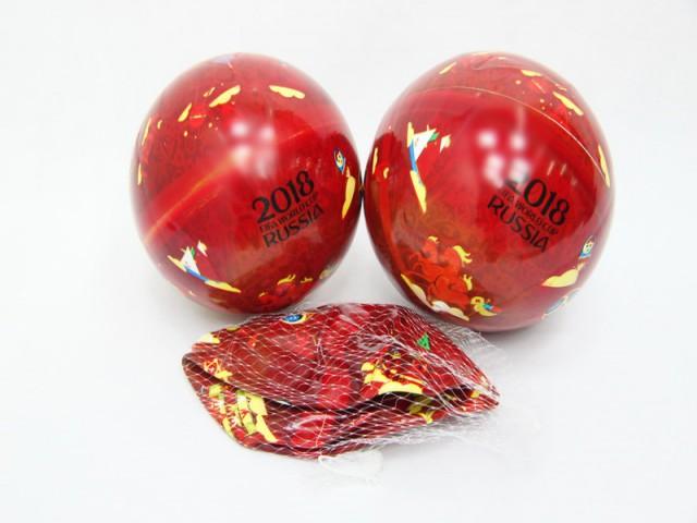 Мягкая игрушка Мяч красный с принтом