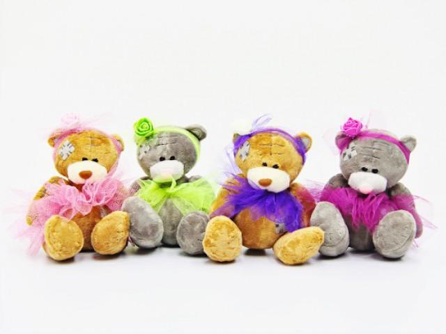 Мягкая игрушка Мишки в ярких нарядах