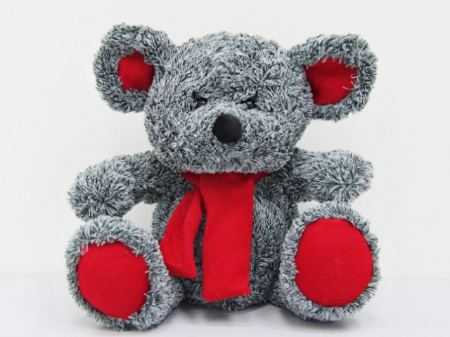 Мягкая игрушка Мышонок пестрый в шарфике