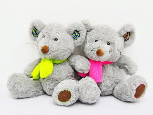 Мягкая игрушка Мышата в ярких шарфиках