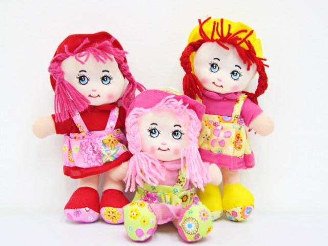 Мягкая игрушка Куколка в цветастом платьице