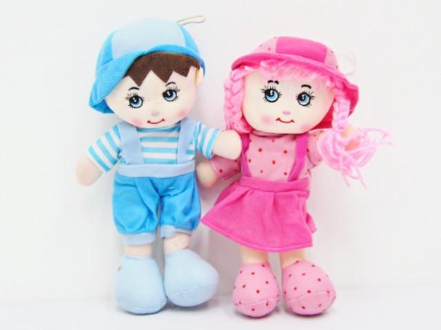 Мягкая игрушка Куколки малыш и малышка