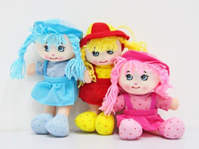 Мягкая игрушка Куколка платье в горошек