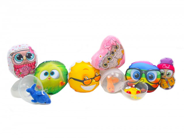 Мягкая игрушка Микс новинка с капсулами(50 капсул с конструкторами + 50 игрушек)
