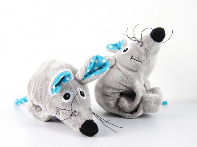 Мягкая игрушка Мышка ушки в горошек