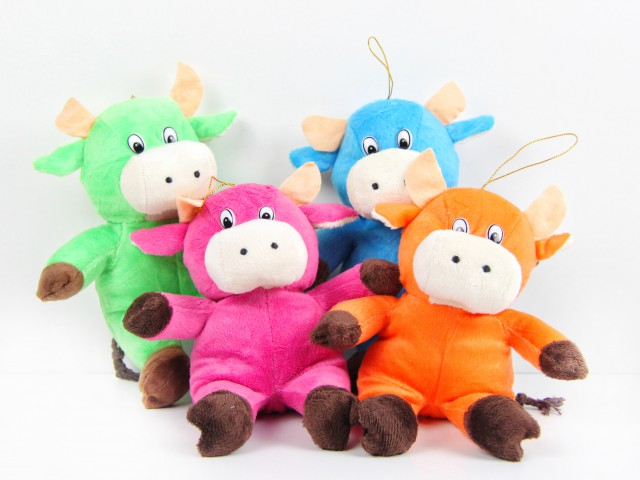 Мягкая игрушка Бычок разноцветный