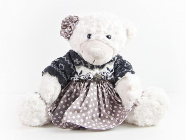 Мягкая игрушка Мишка девочка нарядная