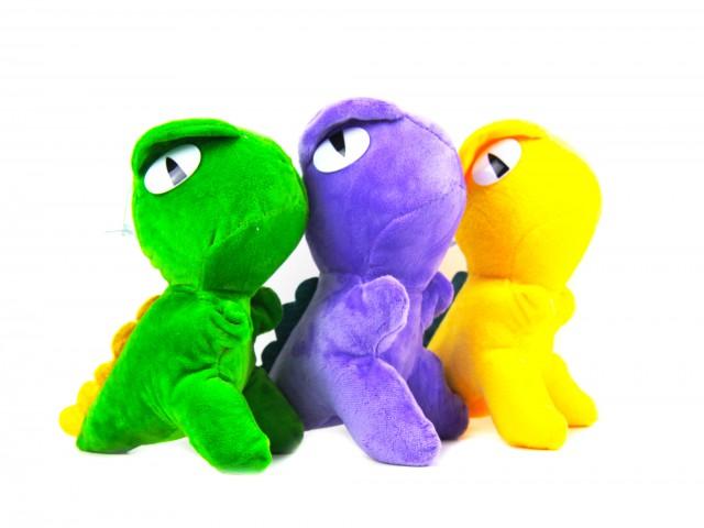 Мягкая игрушка Динозавр яркий