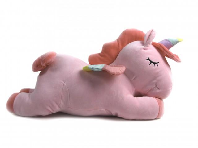 Мягкая игрушка Единорог розовый