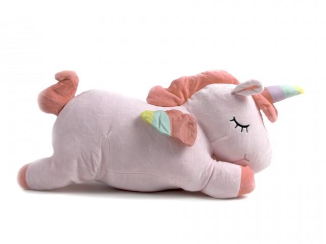 Мягкая игрушка Единорожка розовая