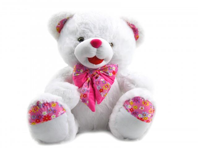 Мягкая игрушка Мишка с розовым бантом