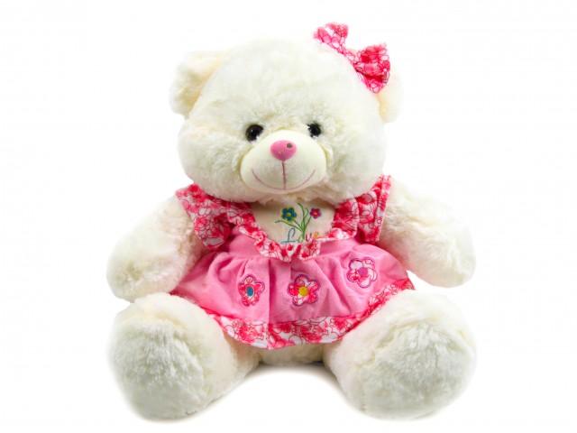 Мягкая игрушка Мишка девочка в розовом платье