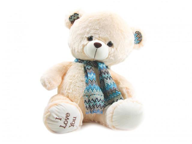 Мягкая игрушка Мишка в голубом шарфике
