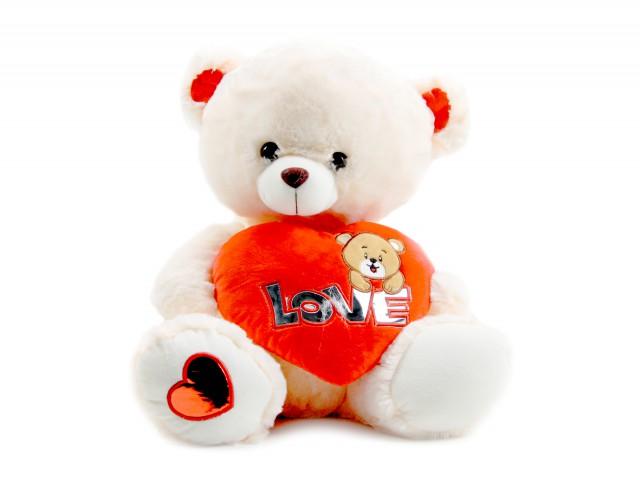 Мягкая игрушка Мишутка с ярким сердечком