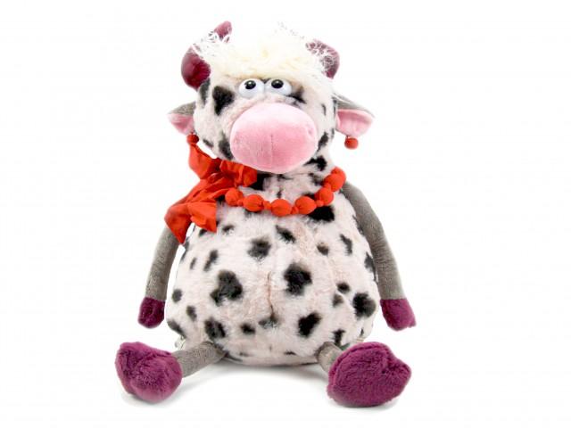Мягкая игрушка Коровка в бусах игрушка пижамница