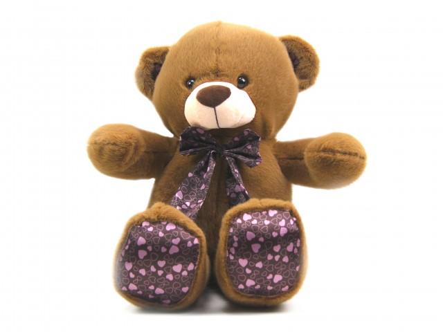 Мягкая игрушка Мишка ангорка атласные лапки шоколадный