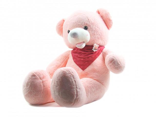 Мягкая игрушка Мишка с платочком розовый