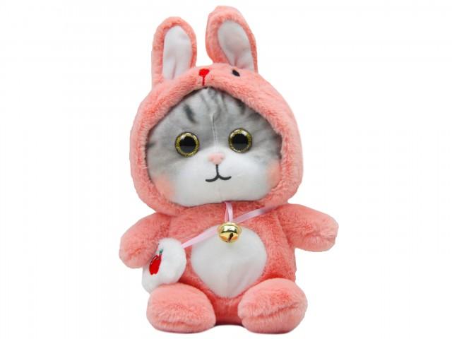 Мягкая игрушка Котенок в костюмчике кролика