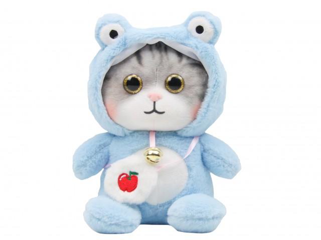 Мягкая игрушка Котенок в костюмчике лягушонка