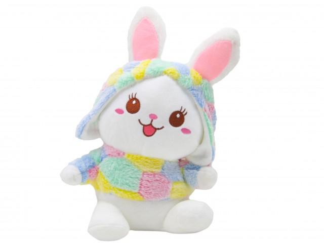 Мягкая игрушка Кролик в цветной шубке