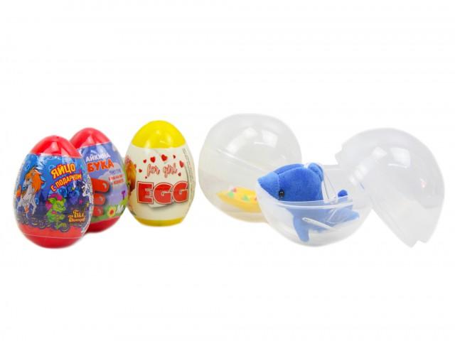 Мягкая игрушка Микс призовой яйцо и капсула с игрушкой