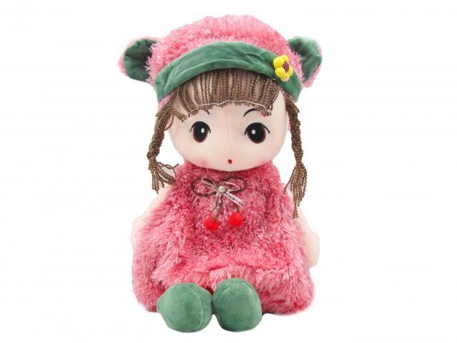Мягкая игрушка Кукла в яркой шубке