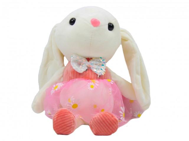Мягкая игрушка Кролик в розовом