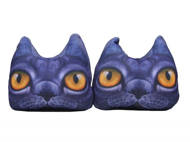 Мягкая игрушка Мордочка кот глазастый